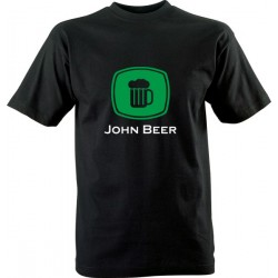 Vtipné tričko s potiskem John Beer
