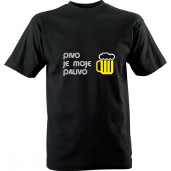 Vtipné tričko s potiskem Pivo je moje palivo