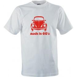 Retro tričko s potiskem Made in 60s