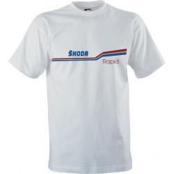 Retro tričko s potiskem Škoda Rapid