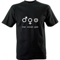 IT tričko s potiskem Man Woman Geek