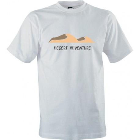 Motorkářské tričko s potiskem Desert Adventure