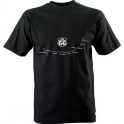 Motorkářské tričko s potiskem U.S. 66