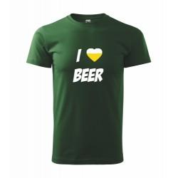 Vtipné tričko s potiskem I love beer