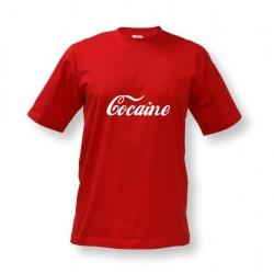 Vtipné tričko s potiskem Cocaine