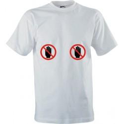 Vtipné tričko s potiskem Nesahat