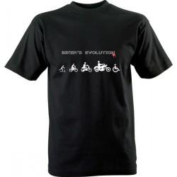 Motorkářské tričko s potiskem Bikers Evolution