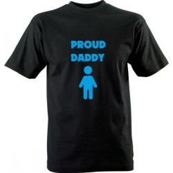 Vtipné tričko s potiskem Proud daddy (chlapeček)
