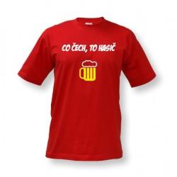 Vtipné tričko s potiskem Co Čech, to hasič