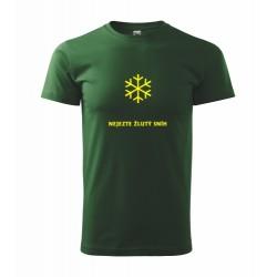 Vtipné tričko s potiskem Nejezte žlutý sníh