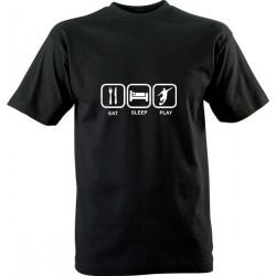 Sportovní tričko s potiskem Eat Sleep Play
