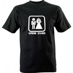Vtipné tričko s potiskem Game over