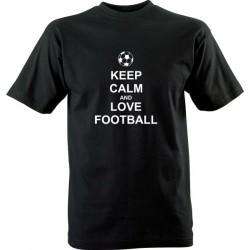 Sportovní tričko s potiskem Keep calm love football