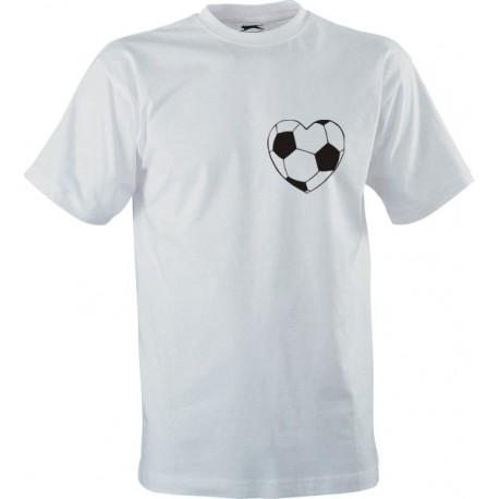Sportovní tričko s potiskem Fotbalové srdce