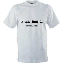 Motorkářské tričko s potiskem Evoluce