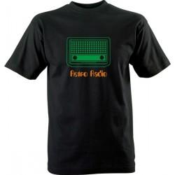 Retro tričko s potiskem Radio