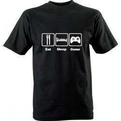 IT tričko s potiskem Eat Sleep Game