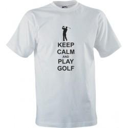 Sportovní tričko s potiskem Keep Calm And Play Golf